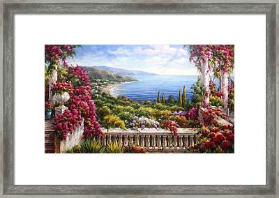 Fiori Sul Lago Di Como Framed Print