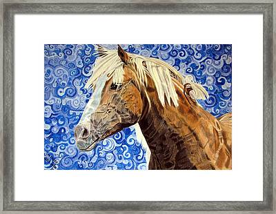 Framed Print featuring the drawing Fiosa by Melita Safran
