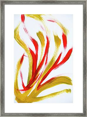 Fire Abstract Painting Framed Print by Christina Rollo