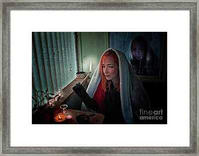 Fire Framed Print by Agnieszka Mlicka