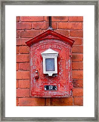 Fire Alarm Box No. 12 Framed Print by Richard Mansfield