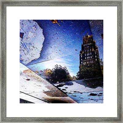 Fire And Coal Framed Print
