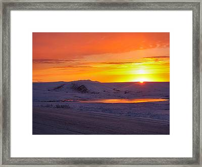 Framed Print featuring the photograph Fire And Ice by Adam Owen