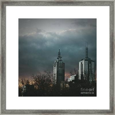 Fire And Ice Framed Print by Andrew Paranavitana