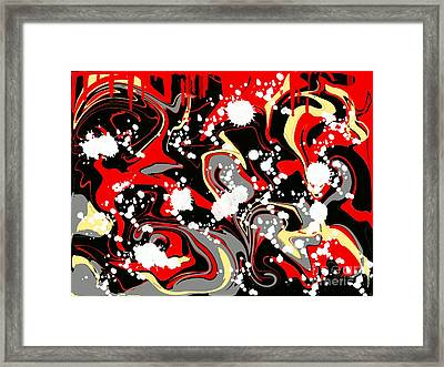 Fire And Ice Framed Print by Aparna Phadnis