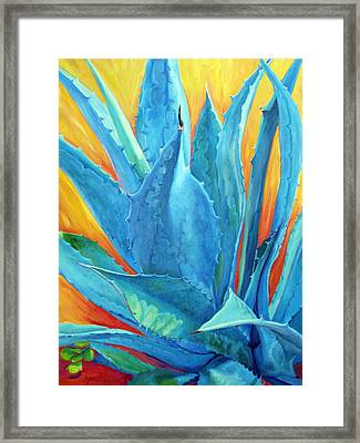 Fire And Ice Framed Print by Athena  Mantle