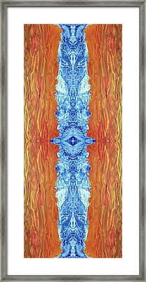 Fire And Ice - Digital 2 Framed Print