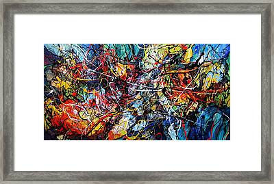 Fire And Ice Framed Print by Eugenia Mangra