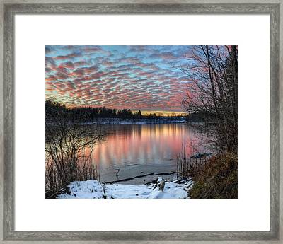 Fire And Ice Framed Print by Jeff Burcher