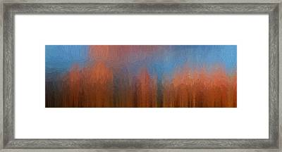 Framed Print featuring the photograph Fire And Ice by Ken Smith