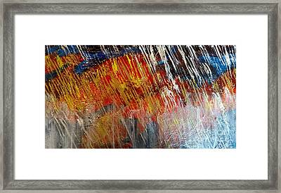 Fire And Ice Framed Print by Lori Jacobus-Crawford