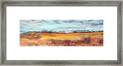 Fire And Ice Framed Print by Lucinda  Hansen