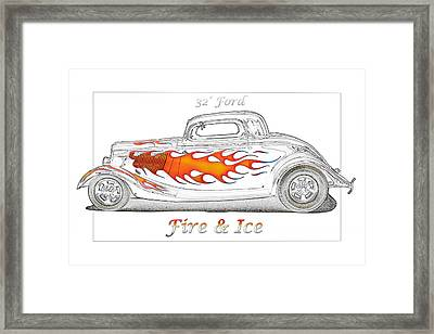 Fire And Ice Framed Print by Michael Gass