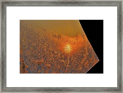Framed Print featuring the photograph Fire And Ice by Susan Capuano