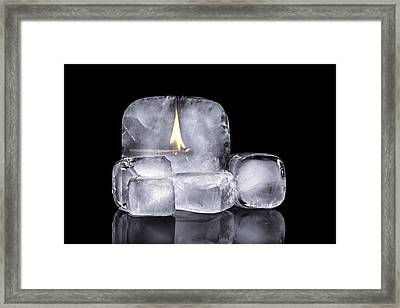 Fire And Ice Framed Print by Tom Mc Nemar