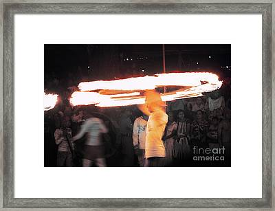 Fire And Ice Framed Print by Venura Herath