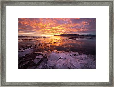 Framed Print featuring the photograph Fire And Ice by Wesley Aston