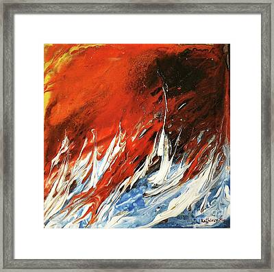 Fire And Lava Framed Print