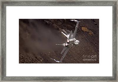 Fire And Steam Framed Print