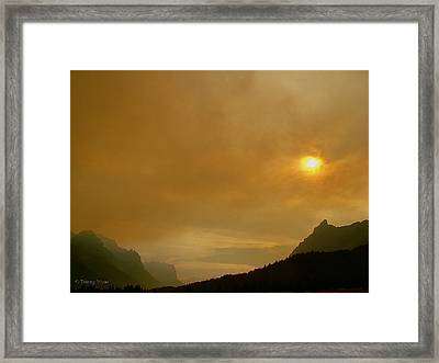 Fire And Sun Framed Print