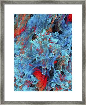 Fire And Water Abstract Framed Print by Andee Design