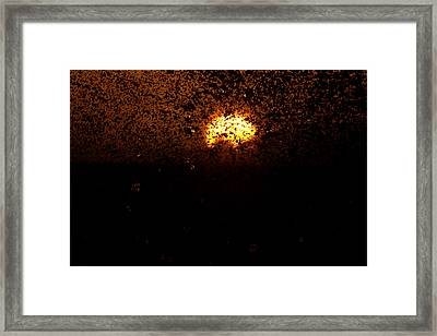 Fire And Water Framed Print by Brad Scott