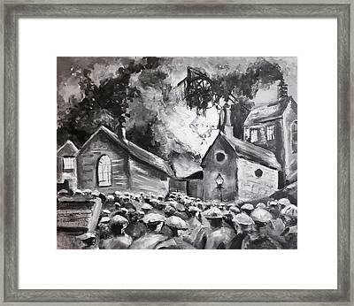 Fire At The Pit  Framed Print