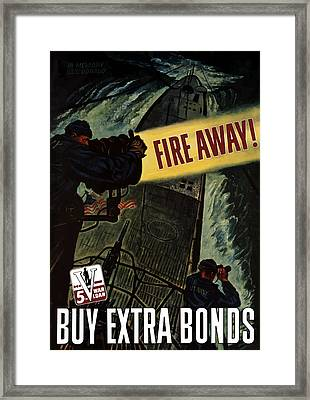 Fire Away Framed Print by War Is Hell Store