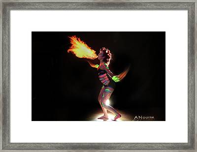 Fire Blowin Framed Print by Andrew Nourse