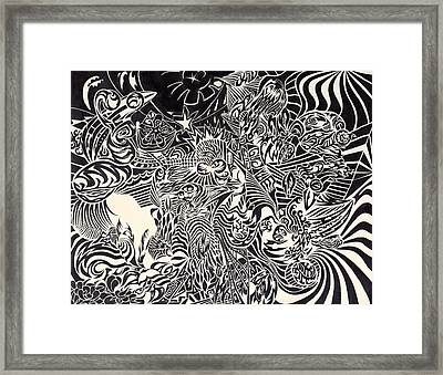 Fire Breathing Cow Framed Print by Sean Corcoran