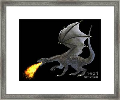 Fire Breathing Dragon Framed Print by Corey Ford