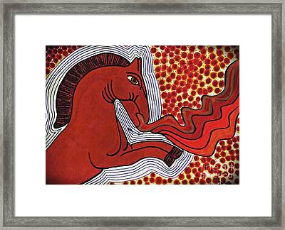 Fire Breathing Horse Framed Print