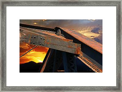 Fire Bridge Framed Print by Melvin Kearney