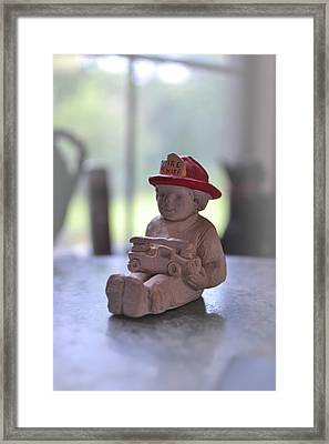 Fire Chief Molded Stone Framed Print