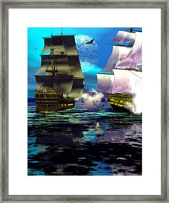 Fire Framed Print by Claude McCoy
