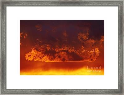 Fire Clouds Framed Print