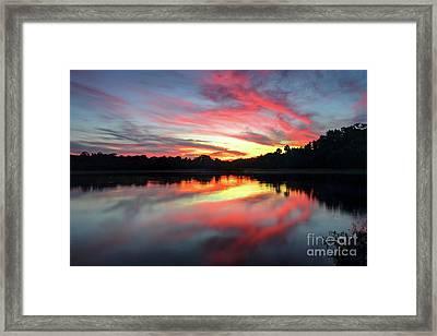 Fire Clouds Framed Print by Rick Mann