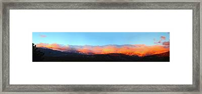 Fire Clouds - Panorama Framed Print