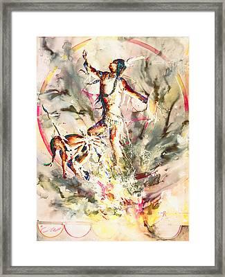 Fire Dance Framed Print