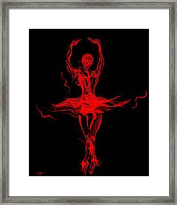 Fire Dancer Ballerina Framed Print by Abstract Angel Artist Stephen K