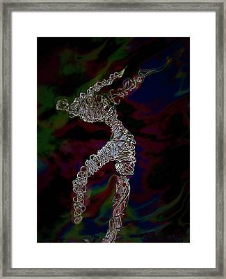 Framed Print featuring the photograph Fire Dancer by Irma BACKELANT GALLERIES