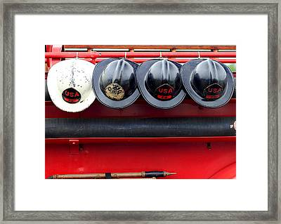 Fire Department Of The Usa Framed Print