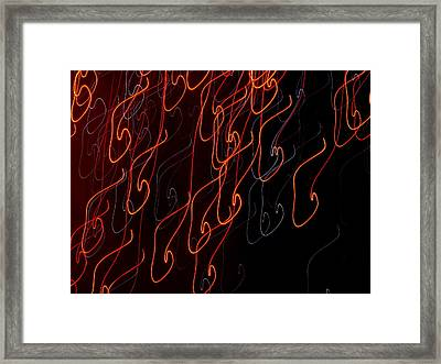 Fire Descends Framed Print by Michael Canning