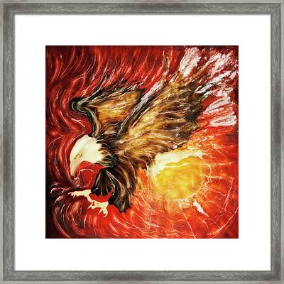 Fire Eagle Framed Print by Paul Tokarski