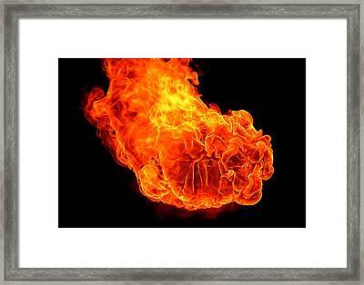 Fire Framed Print by Emanuel Tanjala