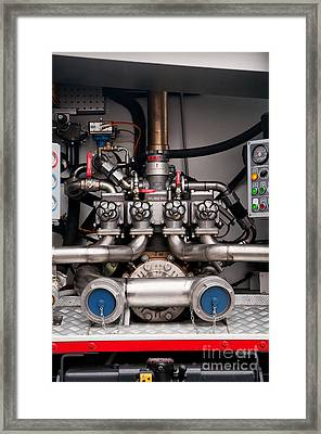 Fire Engine Accessories In Fire Car Framed Print by Arletta Cwalina