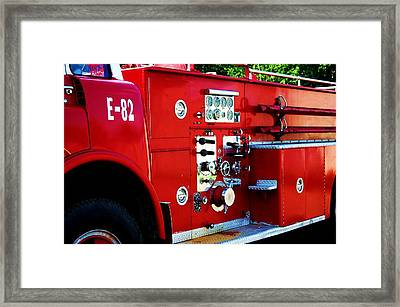 Fire Engine Red Framed Print by Beverly Hammond