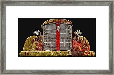 Fire Engine Red Framed Print