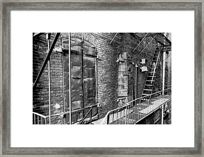 Fire Escape And Doors Framed Print
