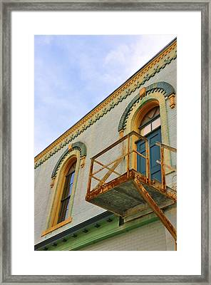 Fire Escape Framed Print by Jan Amiss Photography